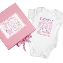 Twinkle Girls Pink Gift Set - Baby Vest